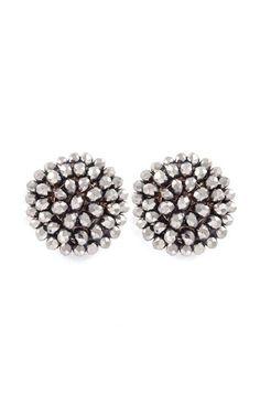 Adette Earrings in Silver Crystal