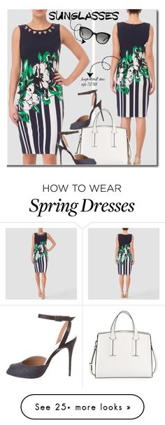 """""""Spring Formal: Retro Sunglasses"""" by premiereavenue-boutique on Polyvore featuring Joseph Ribkoff, Burberry, Maison Margiela and French Connection"""