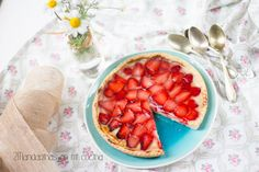 tartaleta de fresas con crema pastelera y masa quebrada