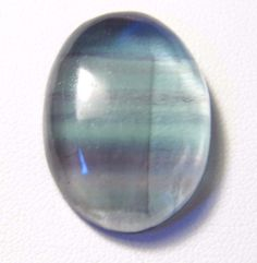 46.17Ct 29x21x7mm Oval Striped Fluorite Cabochon Wire Wrapping/Jewelry Making #Unbranded
