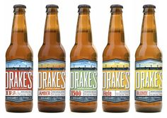 Drake's Brewing Company beer packaging | Molly McCoy, via Oh Beautiful Beer