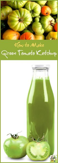 Looking for green tomato recipes? Even if you've never canned tomatoes before, it's easy to do! Click to learn how to make Green Tomato Ketchup.