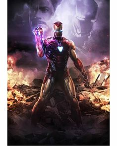 Here is one of the most iconic scenes in Avengers Endgame which I put my own spin to. It isn't an exactly recreation, but I wanted to make it a lot more badass with Iron Man with all 6 infinity stones! Iron Man base belongs to Marvel Enjoy! Marvel Avengers, Iron Man Avengers, Marvel Comics, Marvel Art, Marvel Heroes, Captain Marvel, Captain America Art, Thanos Marvel, Avengers Memes