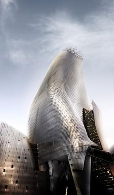 #ARQUITECTURA Phare Tower in Paris, La Defense by Morphosis.