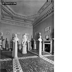 1924  Wentworth Woodhouse  The sculpture gallery at Wentworth Woodhouse. Pub Orig CL 04/10/1924