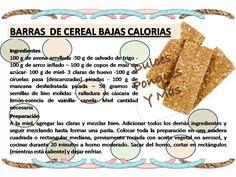 De barritas saludables de recetas cereal