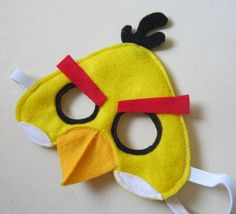 fun! have to find a way to tweak this to make it a non-sewing party craft for the kids. Tutorial: Yellow Angry Bird Mask