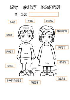Body Parts Coloring Pages Printables High Quality