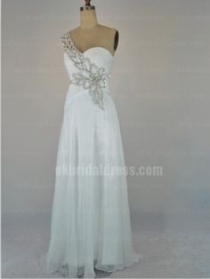 affordable white one-shoulder long prom dress | Cheap prom dresses Sale