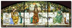 Stained glass panel by Louis Comfort Tiffany in the Grand Hall of St. Louis Union Station