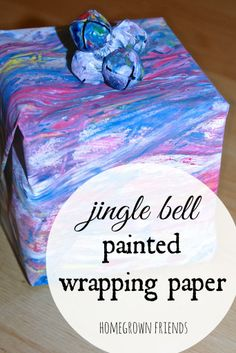 Homemade Jingle Bell Painted Wrapping Paper (Homegrown Friends)