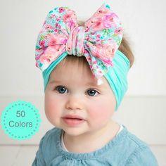 43 ideas diy baby headbands no sew fabrics Nylons, Baby Turban, Grands Arcs, Diy Baby Headbands, Flower Headbands, Baby Hair Accessories, Wedding Accessories, Diy Bebe, Big Bows