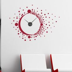 Style and Apply Big Bang Wall Clock Wall Decal Color: Black