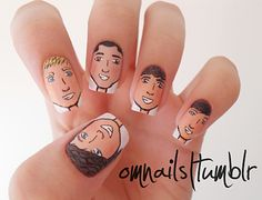 One Direction nails! I want nails like these! One Direction Nails, I Love One Direction, Cute Nails, Pretty Nails, Better One, Makes You Beautiful, Cute Nail Designs, Gorgeous Nails, Amazing Nails