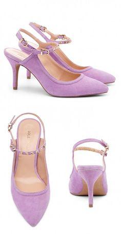 Lavender Studded Slingback Heels. Oooh! I really like these.