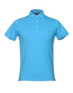 TOMMY HILFIGER Men's Polo shirt Turquoise S INT