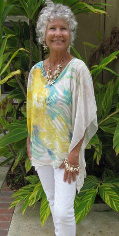 Turquoise & Yellow Kimono Top 1.png