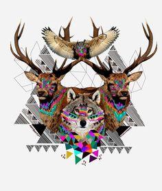 Kris Tate, artista guatemalteca, traza ilustraciones que enfatizan la belleza de los animales y la cultura que hace referencia a las artesanías de su país