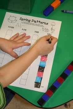 Mrs Lee S Kindergarten Plants Kinder Math Teaching Patterns Preschool Lessons, Preschool Math, Kindergarten Classroom, Fun Math, Teaching Math, Math Lessons, Math Activities, Classroom Ideas, Teaching Ideas