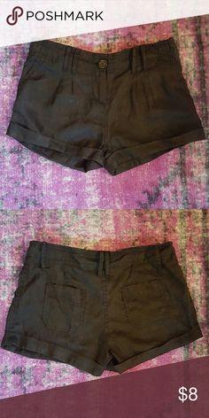 Black Linen Shorts Black linen shorts. Poetry Shorts