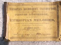 RARE: Ethiopian Accordeon Instructor, Ethiopian Melodies 1848