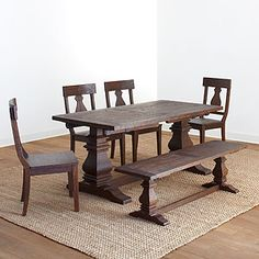 Cost Plus Arcadia Dining Collection LOVE The Legs And Dark Wood