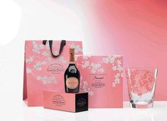 Laurent-Perrier champagne and Baccarat create a lovely gift set