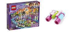 LEGO Friends Amusement Park Roller Coaster 1124 Pcs & free Gifts Butterfly Binoculars (Colors may vary) Toys *** More info could be found at the image url.