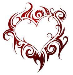 Tribal Heart Tattoos, Heart Tattoo Designs, Tattoo Design Drawings, Love Drawings, Drawings Of Hearts, Heart Designs, Tatoo Art, Body Art Tattoos, Tatoos