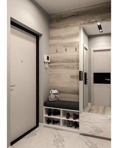 Diy home decor Apartment Interior, Bathroom Interior, Interior Design Living Room, Flur Design, Hall Design, Home Entrance Decor, Diy Home Decor, Room Decor, Design Hall Entrada