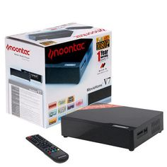 "Product Description V7 FULL HD  NOONTEC V7 FULL HD 3.5 HDD MEDIA PLAYER  Supports HD with big capacity This product is able to support 3.5"" inch HDD with a capacity up to 2TB. It can store more than 1000 movies,240,000 songs or 500,000 digital photos. Supports All Popular HD Video This product supports all popular 1080p HD video in the market, including H.264, MKV, Dixv HD, MPEG 2-TS, VC-1, WMV9, then you can enjoy HD video on your HD TV by HDMI interface. HDMI Digital output With a HDMI ..."