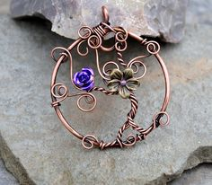 Tree of Life copper wire pendant by IanirasArtifacts.deviantart.com on @DeviantArt