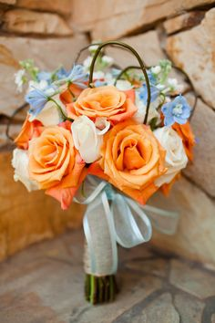 The orange and the blue with the white, perfect vintage combination