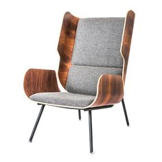 The Elk Chair by Gus Modern evokes the classic, wingback chair design and updates it with contemporary materials and bold, organic lines. Smart Furniture, Living Room Furniture, Modern Furniture, Home Furniture, Furniture Design, Steel Furniture, Furniture Ideas, Basement Furniture, Multifunctional Furniture
