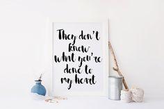 Printable art; Printable quote ONE DIRECTION print,poster print,home decor,home prints,,white and black print,digitalprint,instant download von sweetandhoneyprints auf Etsy