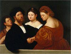 """Bernardino Licinio (1489-1565) 1520s  """"Affare fatto?"""""""