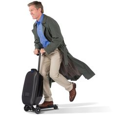 Luggage you ride. I would love this for airports and other travel. | Micro Scooter Luggage
