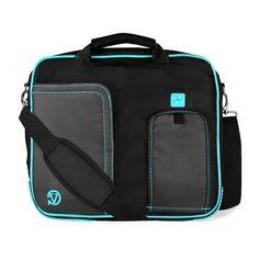 Aqua Pindar Messenger Bag for Archos ArcBook 10.1 inch Laptop -- Click on the image for additional details.