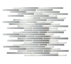 FTYGS020-1 Brushed Stainless Steel Combo Interlocking Mosaic