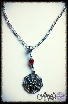 Spider Web Necklace Spider, Necklaces, Pendant Necklace, Stuff To Buy, Jewelry, Spiders, Jewlery, Jewerly, Schmuck