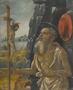 Attributed to Arcangelo di Jacopo del Sellaio *The penitent Saint Jerome in the wilderness* c. 1477/1478-1530