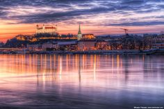 The very colorful sunset in Bratislava by Miroslav Petrasko on 500px