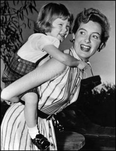 with one of her daughters