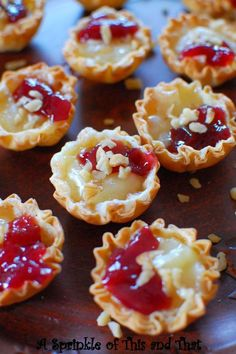 Raspberry Brie Tartlets, 25 Best Appetizers to Serve via A Blissful Nest