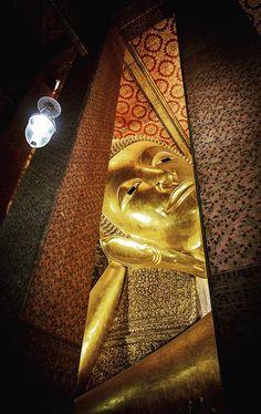 Reclining Buddha, Wat Pho, Bangkok, Thailand Reclining Buddha, Wat Pho, Bangkok Thailand, Recliner, Chair, Recliners, Armless Chair
