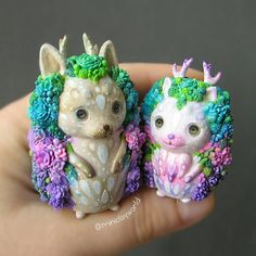 "1,195 Likes, 38 Comments - Irina (@miniclayworld) on Instagram: ""Hey, everyone!) Hope you have an amazing day! CUSTOM ORDER, SUCCULENT PETS - puppy and kitty, made…"""