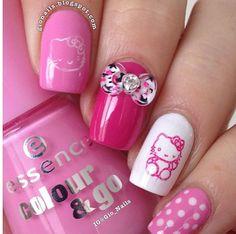 Essence Free Hugs & Ultimate Pink Hello Kitty Nails