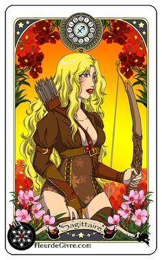 Astrology deck card: Sagittarius by *OoAlixoO on deviantART