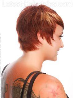 Fiery Fringe Bright Blonde Chunky Highlights Side View