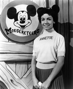 """ANNETTE FUNICELLO debuted as a Mouseketeer in October Walt Disney saw her performing the lead role in """"Swan Lake"""" at her ballet school's recital and asked her to audition for the Mickey Mouse Show. Before I Forget, Before Us, Walt Disney, Disney Magic, Disney Art, Jim Henson, Sweet Sixteen, Annette Funicello, Baby Boomer"""
